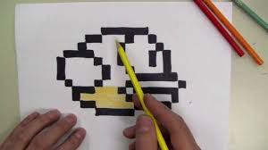 Graph Paper Draw How To Draw Flappy Bird 8 Bit Make Your Own Graph Paper Youtube
