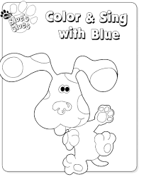 Small Picture Kids n funcom 15 coloring pages of Blues Clues