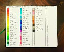 Crayola Supertips 50 Color Chart I Did A Swatch Of The 50 Pack Of A Crayola Supertips In My