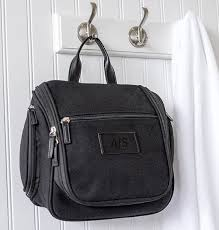 personalized men s canvas leather hanging toiletry bag