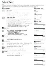 Artist Resume Sample And Complete Guide 20 Examples