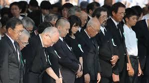 Image result for یک دقیقه سکوت برای 140 هزار قربانی بمباران اتمی هیروشیما