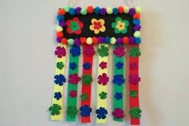 wall hanging ideas easy craft idea simple and for kids inside with icecream sticks