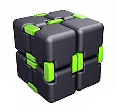 infinity cube. fidget cube in style with infinity pressure reduction toy - turn spin edc