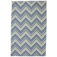 mohawk home pool zig zag blue rectangular outdoor tufted area rug common 5 x