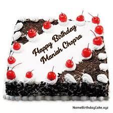 Happy Birthday Manish Cake Pic Download
