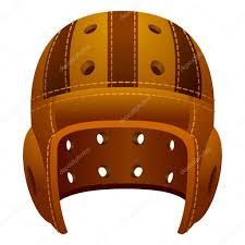 vintage old leather american football helmet stock vector