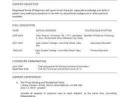 School Nurse Resume Objective Objective For Resume Nursing Studenttant With No Experience 99
