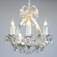 crystal chandelier for nursery mini small white bedroom baby lighting in cr