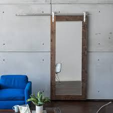 Door Ideas Wood Sliding Closet Doors Faux Barn Mirror In Mirrored 19