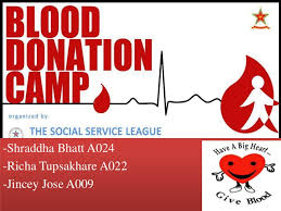 jincey shraddha richa blood donation camp project camp
