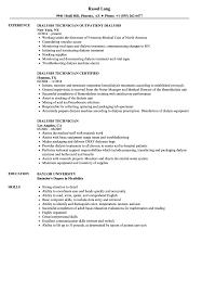 Dialysis Technician Resume Dialysis Technician Resume Samples Velvet Jobs 1