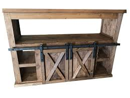 sliding barn doors. Sliding Barn Door TV Stand With Fireplace Doors