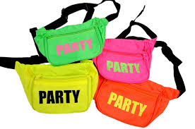 fanny pack. neon party fanny packs pack