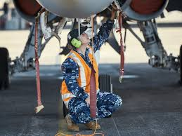 Aviation Electronics Technician Leslie Native Serves With Navy Strike Fighter Squadron American With