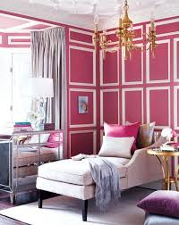pink and white furniture. pink wall with white molding ideasforho and furniture