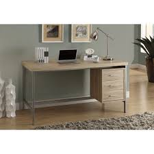 metal office desks. silver metal and natural reclaimedlook 60inch long office desk desks