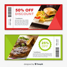 Creative Coupon Template Design Vector Free Download