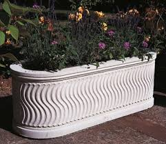 roman trough stone planter gardensite