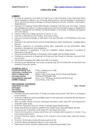 Qa Sample Resume Cv Software Bug Software Development