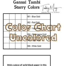 Gansai Tambi Color Chart Kuretake Gansai Tambi Starry Colors Color Chart 6 Colors Tabby May Art
