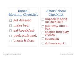 Checklist For School Back To School Checklist Free Printable Momof6
