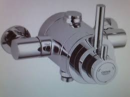 grohe avensys modern exposed valve thermostatic shower mixer chrome 34222000