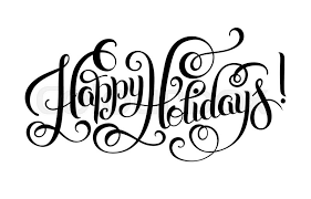 happy holidays white. Contemporary White Black And White Happy Holidays Hand Lettering Inscription Christmas  Calligraphy Vector Illustration  Stock Vector Colourbox Throughout White