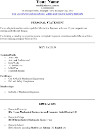 Key Skills In Resume For Mechanical Engineer Key Skill For Resume