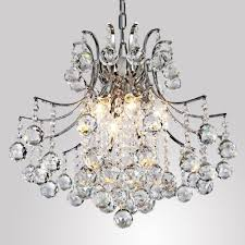 lightinthebox modern contemporary crystal chandelier with 6 lights pendant modern ceiling light fixture for bedroom living room dining room hallway entery