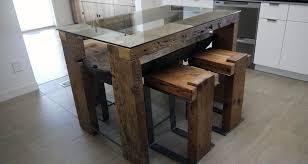 salvaged wood dinner tables