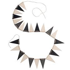 Pendant Banner Grimms Monochrome Pennant Banner Bunting
