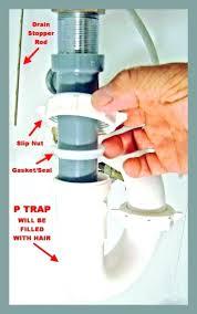 how to clean out a clogged bathtub drain bathtub drain cleaner bathroom sink drain clogged unclogging