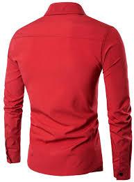 Faux Twinset Panel Design Shirt Turndown Collar Faux Twinset Panel Design Shirt