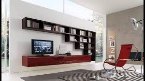Wall Units Furniture Living Room Enticing Living Room Wall Units With Glossy Maroon Storage Idea