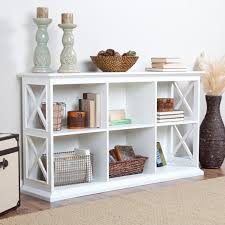 modern white console table. Modern White Painted Oak Wood Hallway Table With Cubism Shelves, Captivating Console O