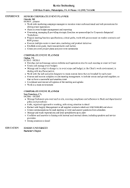 Corporate Event Planner Resume Samples Velvet Jobs