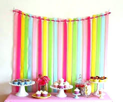 paper ribbon decoration on wall best crepe decorations ideas streamer backdrop party backdrops images decorating for