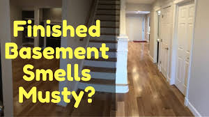 my finished basement smell musty