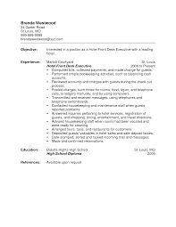 cover letter for hotel front desk clerk front letter format