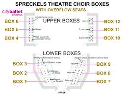 Seating Chart City Ballet Chorus