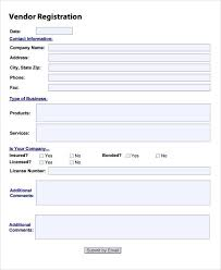 printable registration form template nice sample vendor registration form images gallery
