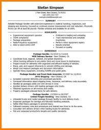 Ups Package Handler Resume Material Samples Cv Cover Letter The 1024