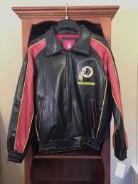 washington s nfl team apparel medium leather jacket mint condition 1906117486