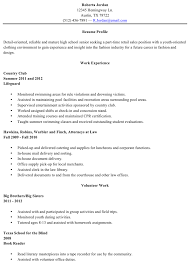 High School Student Resume Examples First Job Stunning Resume High School Template Radiovkmtk
