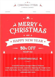 Merry Christmas Email Template Merry Gift Certificate Template Free Email Christmas