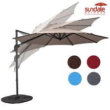 cantilever patio sundale outdoor 10ft hanging roma offset umbrella outdoor patio