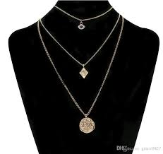 whole hip hop 3 layer necklace gold plated egyptian pyramid illuminati eye of horus pendant necklace fashion jewelry for men women white gold necklace