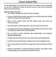sample career plan 8 sample career action plan free sample example format