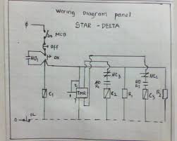 instalasi panel listrik  star delta is the circuit to run the electric motor which at the time of star using a hub star star and moments later turned into a delta triangle
